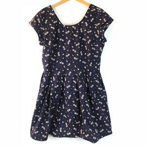 clockhouse Dresses - {CLOCKHOUSE} Navy Blue Bicycle Print Dress
